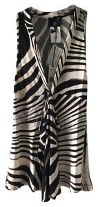 Just Cavalli Zebra Ruffle Animal Print Brand New Top black and white