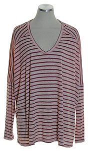 Free People Knit Long Sleeve Stretch T Shirt Rose Taupe