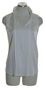 Elie Tahari 100% Silk Sleeveless Top Ivory