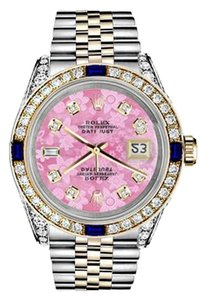 Rolex Women's Rolex 31mm Datejust PinkFlowerDial with Sapphire Diamond Bezel