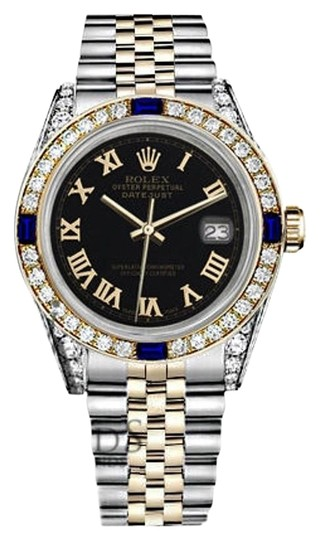 Preload https://img-static.tradesy.com/item/18147760/rolex-ladies-26mm-samll-two-tone-dial-sapphire-and-diamond-bezel-watch-0-2-540-540.jpg