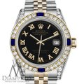 Rolex Ladies Rolex 26mm Samll two tone Dial Sapphire & Diamond watch Bezel Image 1
