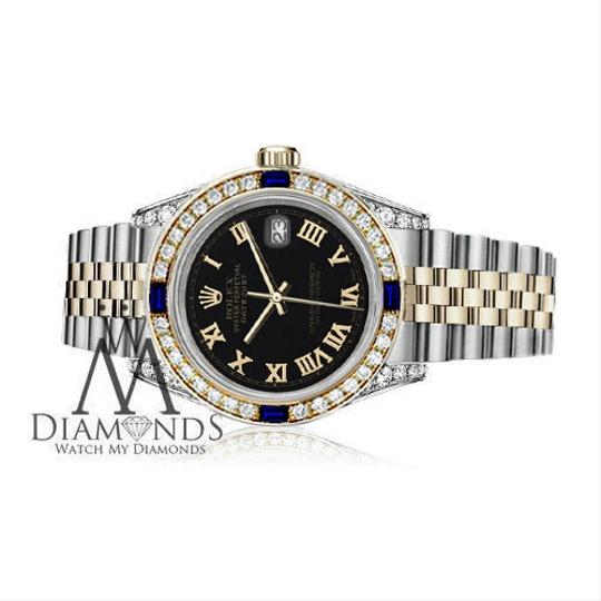 Rolex Ladies Rolex 26mm Samll two tone Dial Sapphire & Diamond watch Bezel Image 2