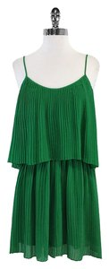 Parker short dress Green Pleated Spaghetti Strap on Tradesy