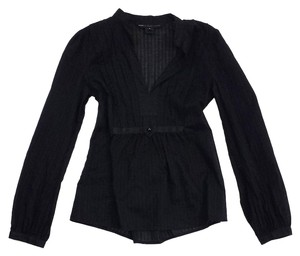 Marc by Marc Jacobs Black Cotton Long Sleeve Top