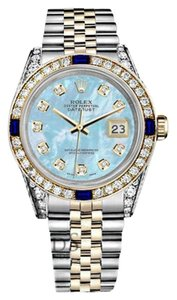 Rolex Women's Rolex 31mm Datejust BabyBlue MOPDial Sapphire Diamond Watch