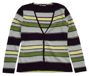 Missoni Grey Yellow Striped Cardigan