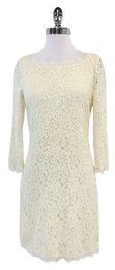 Diane von Furstenberg short dress Cream Lace Long Sleeve on Tradesy
