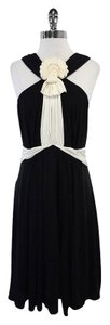 Temperley London Black Cream Embellished Dress