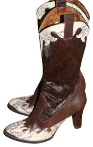 Donald J. Pliner Brown Mulit Boots