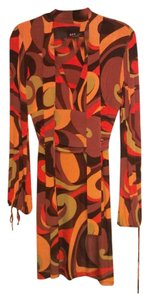 A.B.S. by Allen Schwartz short dress Sienna / Brown / Olice / Orange / Dark Orange on Tradesy