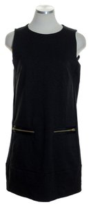 J.Crew short dress Black Stretch Ponte Knit Sleeveless on Tradesy
