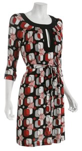 A.B.S. by Allen Schwartz short dress Red / Black / Ivory on Tradesy