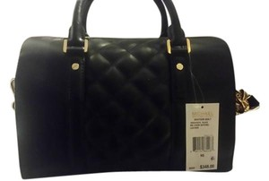 Michael Kors New Leather Gold Satchel in Black