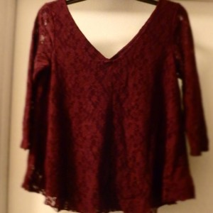 American Eagle Outfitters Top Oxblood, Wine, Red, Garnet