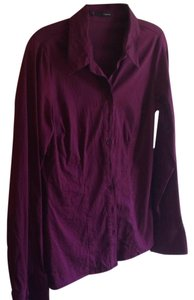Maurices Button Down Shirt Purple