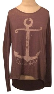 O'Neill Fall Winter Cotton Nautical Longsleeve T Shirt Mauve