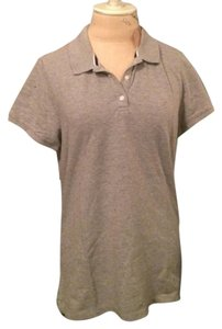 American Eagle Outfitters Polo Summer Fall Spring Cotton Top Gray