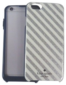 Kate Spade Kate Spade TMOM64344 Silver Diangonal Stripes iPhone 6 6s Case