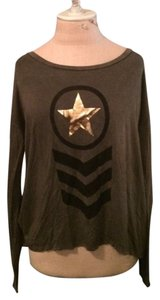 Vintage Havana Longsleeve Cotton Fall Winter Army T Shirt Olive