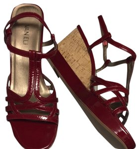 Vaneli Dark Red Wedges