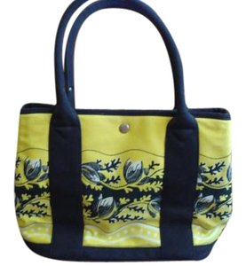 J.Crew Tote in Yellow/ Navy