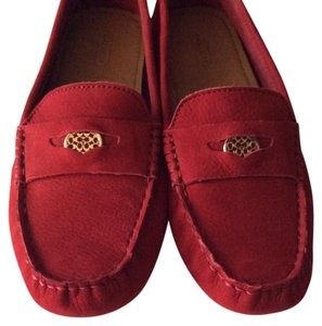 Coach Rouge red Flats