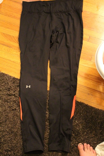 Item - Black with Neon Coral Activewear Bottoms Size 12 (L, 32, 33)