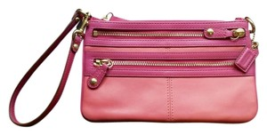 Coach Leather Pink Clutch