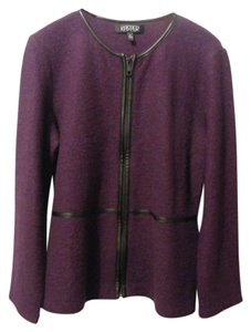 Kasper 100% Wool Machine Washable Fuschia Jacket