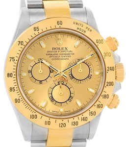 Rolex Rolex Cosmograph Daytona Stainless Steel 18K Yellow Gold Watch 116523
