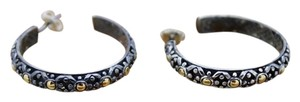 John Hardy John Hardy Large Two-Tone Hoop Earrings DOT Collection