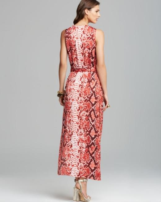 Coral Red\Snake print Maxi Dress by Michael Kors Image 1