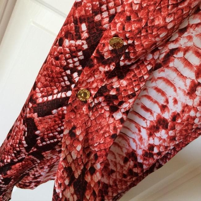 Coral Red\Snake print Maxi Dress by Michael Kors Image 2