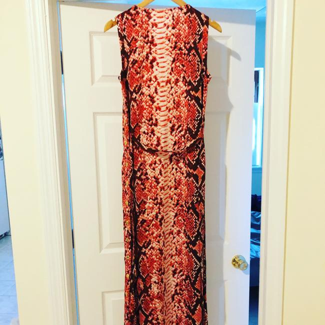 Coral Red\Snake print Maxi Dress by Michael Kors Image 7