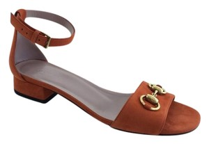 Gucci Nadege Leather New Rust Sandals