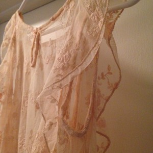 Forever 21 Top Peach, Pink, Sheer