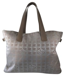 Chanel Fabric Weekend Tote in Beige