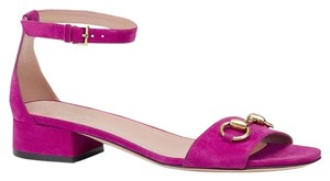 Gucci Nadege Leather Fuchsia 5523 Sandals