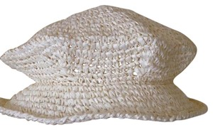 Pandamerica New packable straw crochet summer hat with full 2 1/2 in. brim