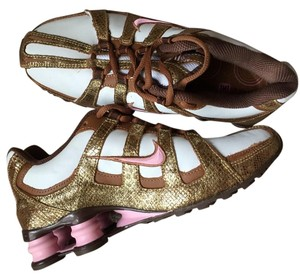 Nike Leather Fabric Funky Brown, White, Pink Athletic