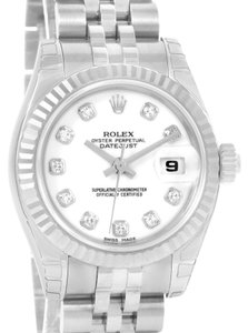 Rolex Rolex Datejust White Diamond Dial Ladies Watch 179174 Unworn