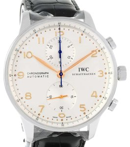 IWC IWC Portuguese Chrono Automatic Steel Mens Watch IW371445 Unworn