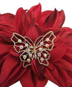 Other Romantic Butterfly Brooch Gold Plated Vintage