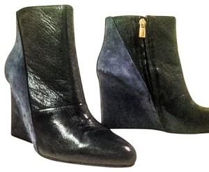 See by Chloé Wedge Wedge Leather/Suede Navy Boots