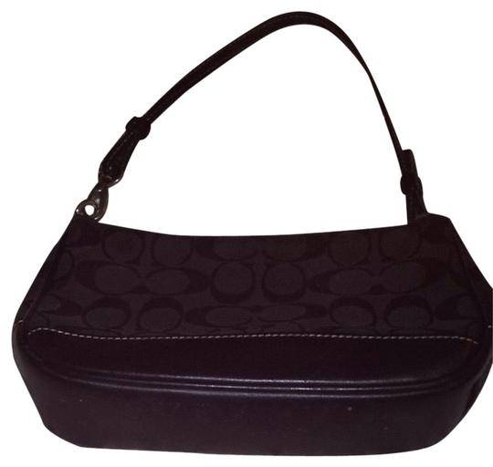 Preload https://item3.tradesy.com/images/coach-black-pattern-material-and-leather-shoulder-bag-1815207-0-1.jpg?width=440&height=440