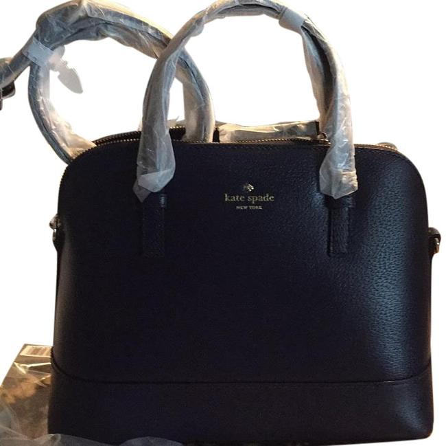 Item - Rachelle French Navy Cowhide Leather Satchel