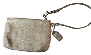 Coach Monogram Sparkle Wristlet in Silver