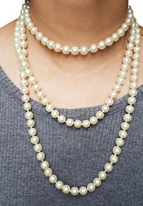 Faux Pearl Long Necklace
