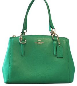 Coach Satchel in Kelly Green